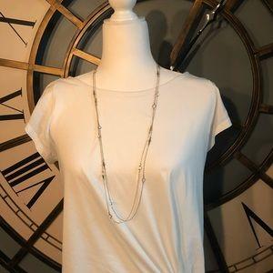NWT Mixed Metallic Stone Necklace Set